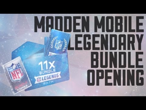 MADDEN MOBILE LEGENDARY BUNDLE OPENING!