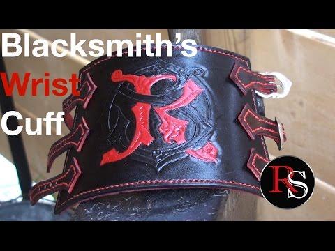 Leatherworking- Making A Leather Blacksmith's Wrist Cuff / Bracer