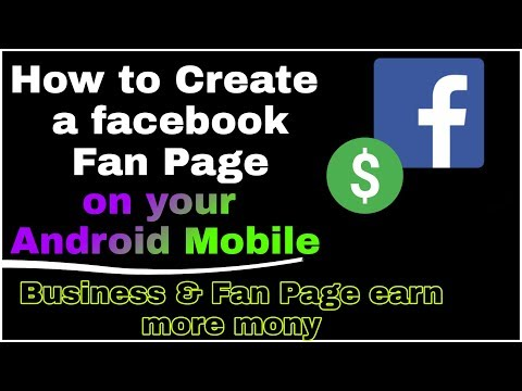 How to Create a facebook fan/Self Page from Android mobile