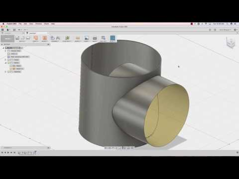 Fusion 360 Flat Pattern Hole On Cylindrical Face