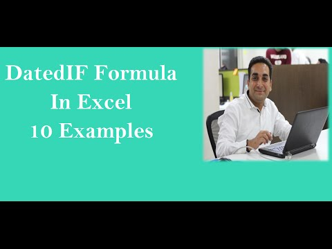 Datedif Formula In Excel in 6 Variations Hindi