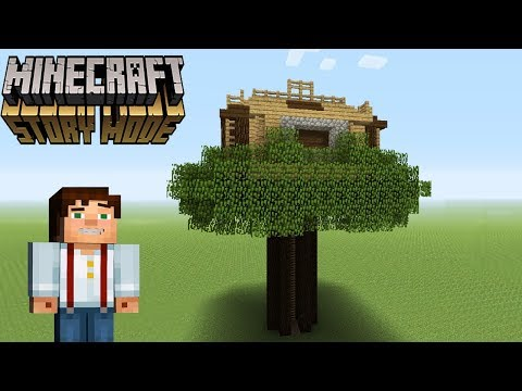Minecraft Tutorial: How To Make Jesses TreeHouse From