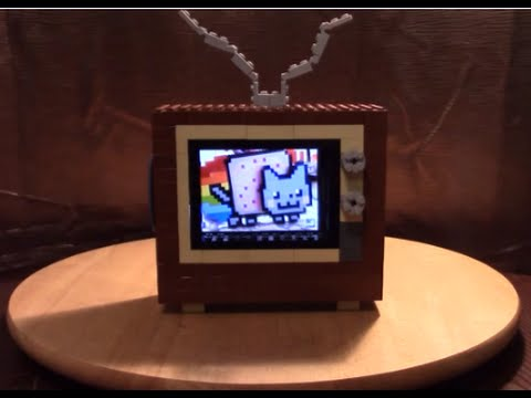 WORKING LEGO TV FOR CELL PHONE!