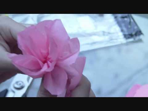 How to make a Flower with Tissue sheets