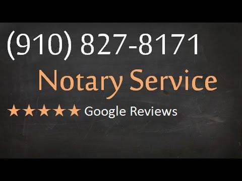 Notary Public Wilmington NC (910) 827-8171 Notary Wilmington North Carolina