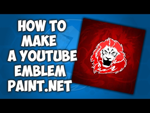 How to make a YouTube Emblem in paint.net 'EASY'