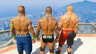 GTA 5 Randy Orton John Cena Compilation #3 (GTA 5 WWE Fails Funny Moments)