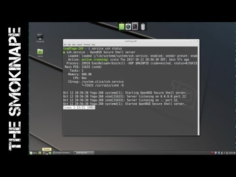 Installing ssh server (openssh) on Linux Mint - TheSmokinApe
