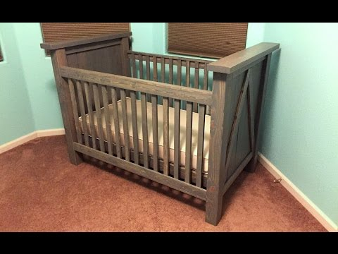 DIY Custom Baby Crib Build | Timelapse