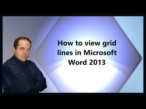 How to view grid lines in Microsoft Word 2013