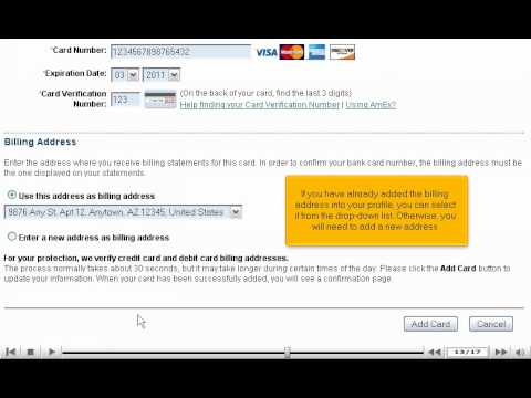 How to add your credit card to your PayPal account - PayPal tutorial