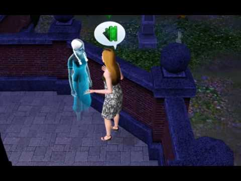 Sims 3 | Almendra talking with a nice ghost