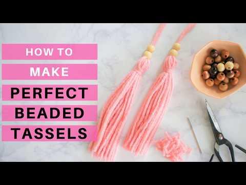 DIY: Make a Perfect Beaded Yarn Tassel