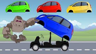 Learn Colors with Mini Cars Tata Nano | Small Auto Street Vehicles for Kids | बच्चों के लिए वीडियो