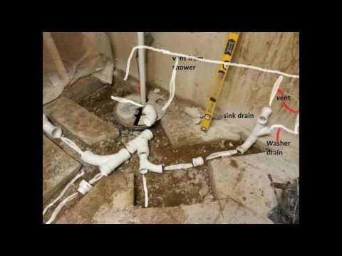 Basement bathroom plumbing design