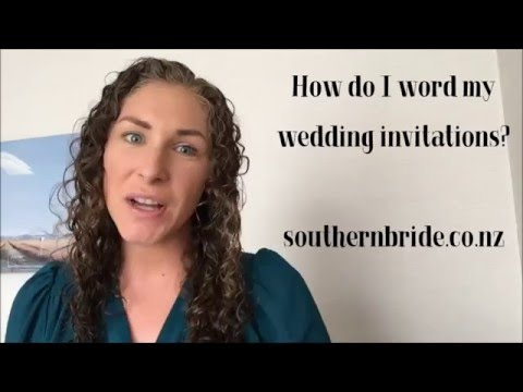 How do you word your wedding invitations? Traditional template & tips