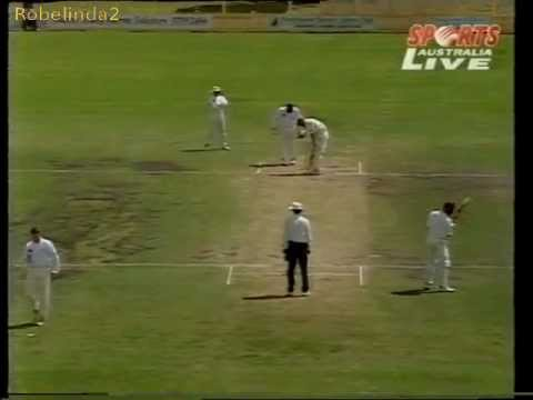 Stuart MacGill 1996 12 overs ball by ball bowling vs Queensland