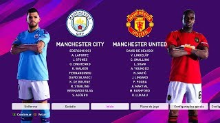 PES 2020 GAMEPLAY - MANCHESTER CITY vs MANCHESTER UNITED