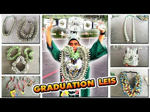 2018 ULTIMATE GRADUATION MONEY LEIS!! | Candy Lei | Money Crown | BELT
