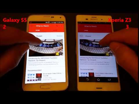 Galaxy S5 vs Xperia Z3: Boot & Speed Test (App & Internet Test)