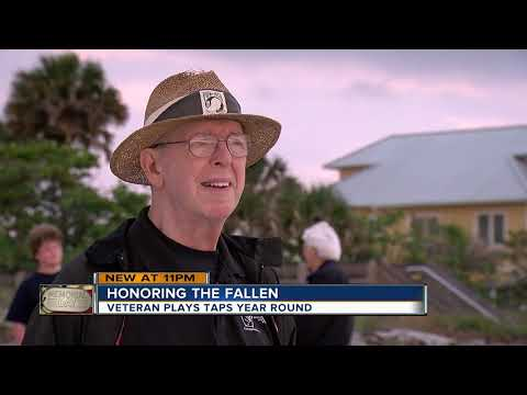Veteran honors fallen soldiers with 'Taps' year round at Florida beach