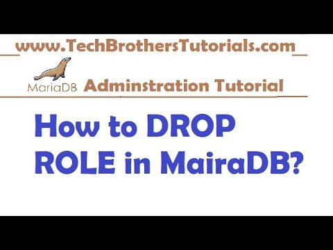 How to Drop Role in MariaDB - MariaDB Admin Tutorial