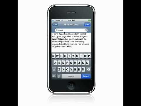 Using Quickword - Part 2 - Quickoffice® Pro for iPhone & iPod touch