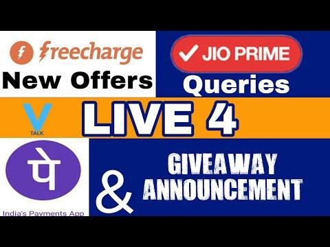 Live 4: Freecharge Offer, PhonePe Offer , Jio Prime • V Talk
