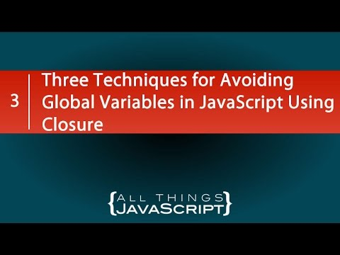 Three Techniques for Avoiding Global Variables in JavaScript