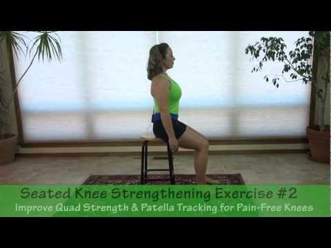 Seated Knee Strengthening Exercise -  for the Quadriceps & Patella to Help Reduce Knee Pain