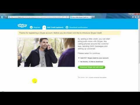 Neobrađeno - Otvaranje naloga i instalacija Skype-a