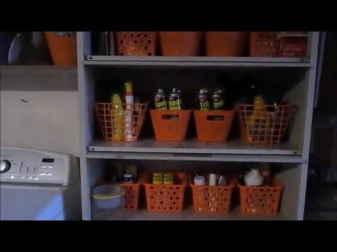 DECLUTTER and ORGANIZE GARAGE ON A BUDGET//DOLLAR TREE BASKETS HELP
