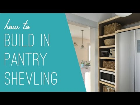 How To Build DIY, Built-In Pantry Shelves