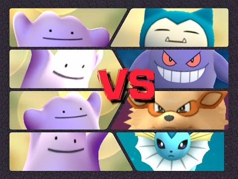 Pokémon GO Gym Battles catching+Battling DITTO Arcanine Snorlax Vaporeon Gengar & more