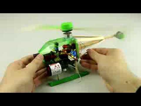 cara membuat mainan ( helikopter dari stick es krim)