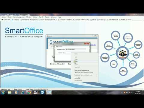 How to get smart office attendance system licence key tutorial step by step