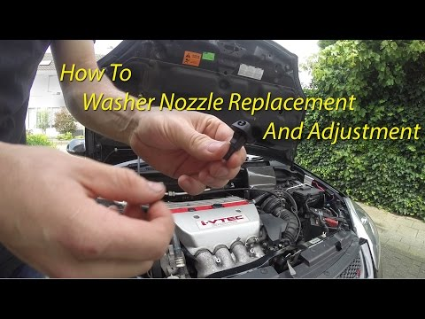 Windshield Washer Nozzle Replacement & Adjustment