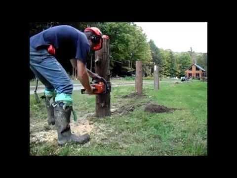 The one-minute cedar rail fence...