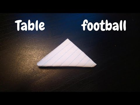 How to Make a Paper Table Football   Flick Football   Origami Step by Step Tutorial