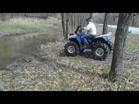 Testing the Honda 300 with 54% gear reduction, 4'' lift and 29.5 Outlaws