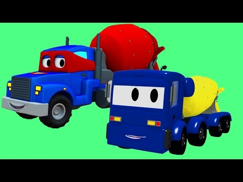 The Concrete Mixer Truck with Super Truck, Tom The Tow Truck and Troy The Train in Car City !