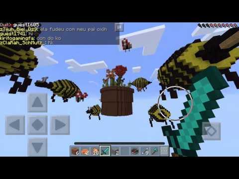 FULL DIAMOND ARMOR!!!|Minecraft: Pocket Edition|Lifeboat Skywars Server