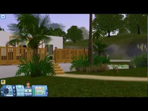 Sims 3 - Designer Hillside Mansion - Building a House [HD]