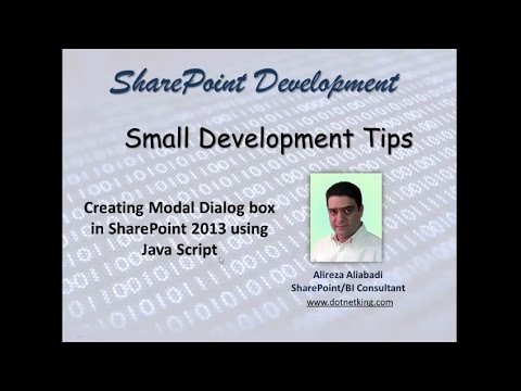 How to create a modal dialog box in SharePoint 2013 using JavaScript
