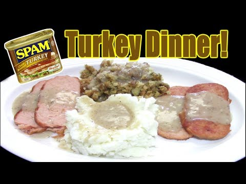 Delicious Turkey Dinner with SPAM?? - Is It Possible? - WHAT ARE WE EATING?? - The Wolfe Pit
