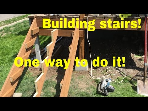 Deck stairs - Building and cutting stringers