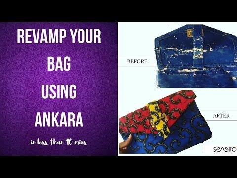 DIY How To Cover Your Bags Using Ankara Fabric | Senero