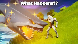 What Happens When a Loot Shark Eats a Mythic Weapon? | Fortnite Experiments