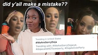 TWITTER UN-CANCELLED DOJA CAT AFTER 24 HOURS...let's talk about it *screenshots & videos*