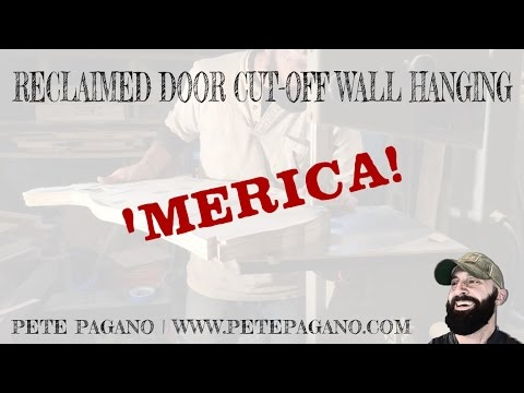 Reclaimed Door Cut-Off Wall Hanging - 'Merica!
